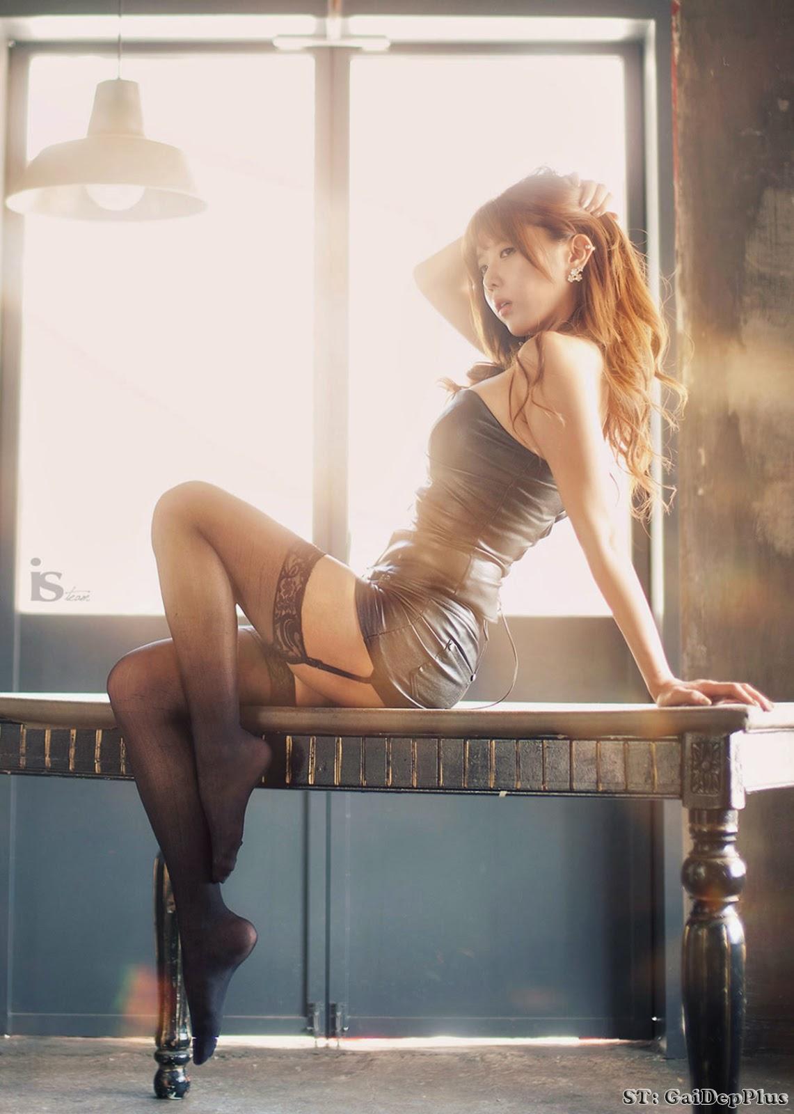 Heo Yunmi Queen Of Korean Cars Sexy Side Sofa  Beautiful Girl-6166