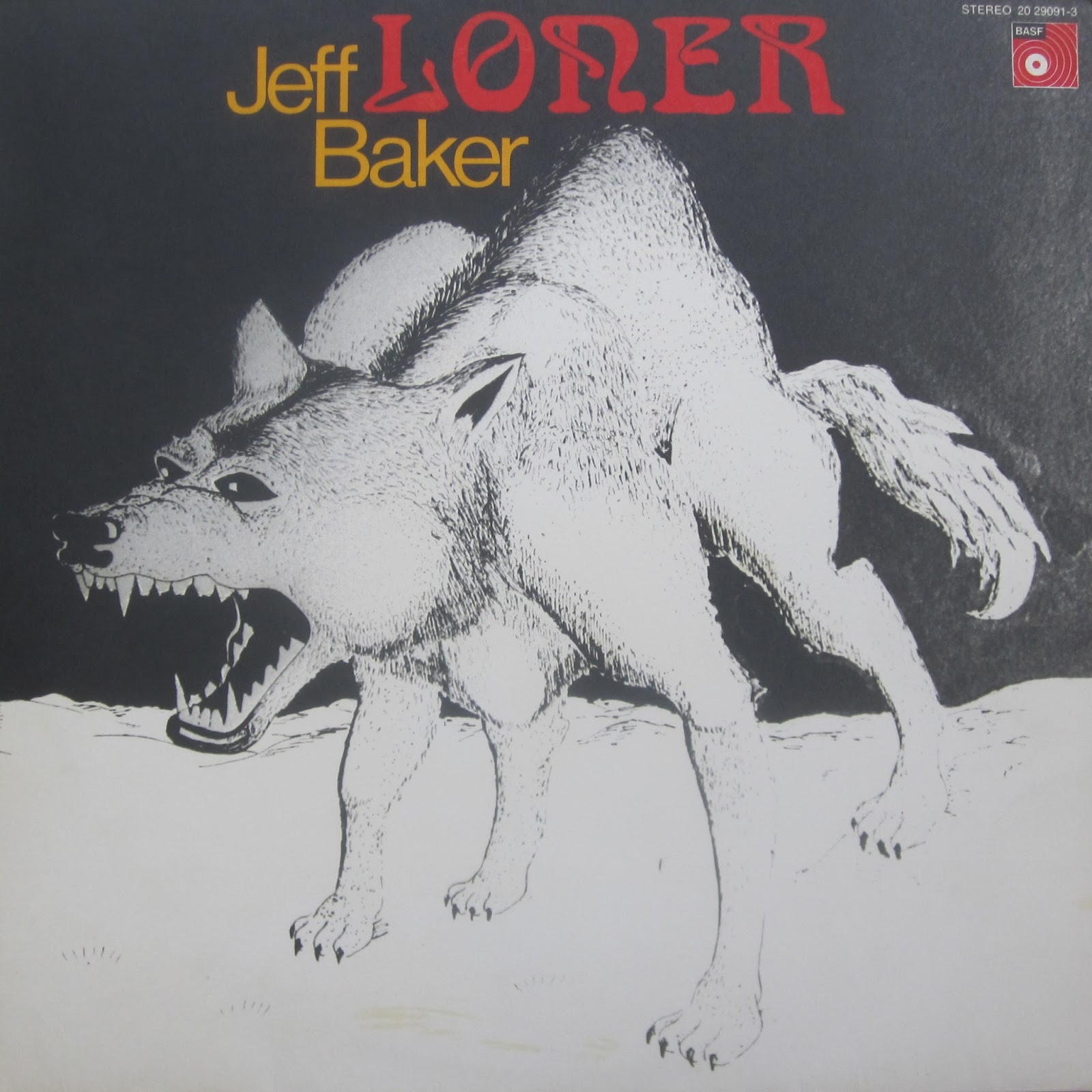 Jeff Baker Loner 1971 Germany Psych Folk Rock