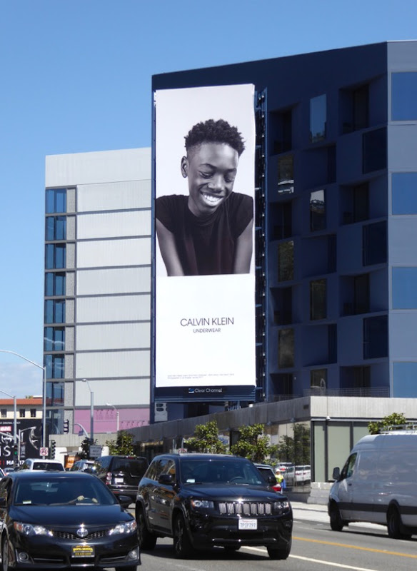 Calvin Klein Underwear Ashton Sanders Moonlight billboard