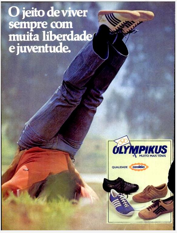 Campanha da Olympikus promovendo sua linha de tênis no final dos anos 70