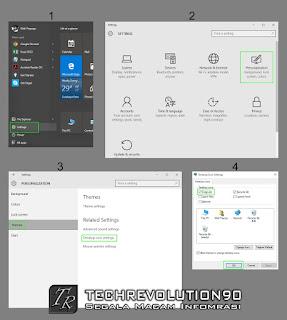 Langkah - langkah menampilkan This PC pada Windows 10