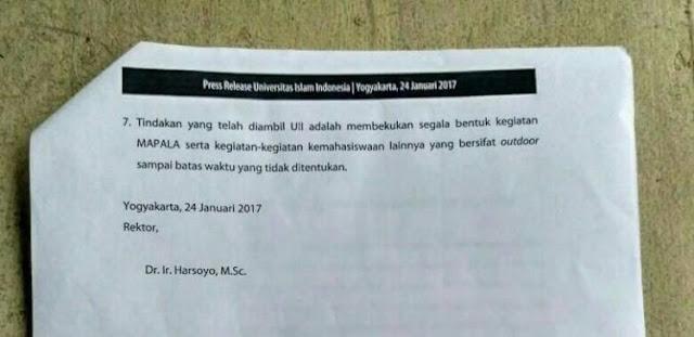 Rektor UII Harsoyo : Saya Kawal Kasus ini Sampai Tuntas