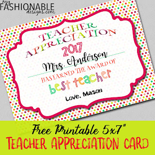 graphic about Teacher Appreciation Cards Printable named My Contemporary Models: Totally free Printable Trainer Appreciation Card