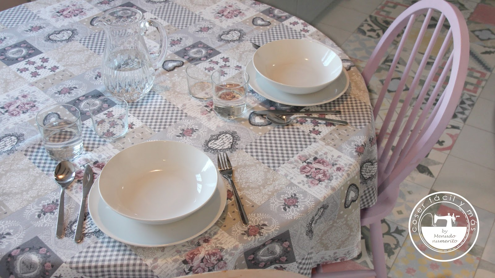 Cómo hacer un mantel redondo - El blog de Coser fácil y más by ...