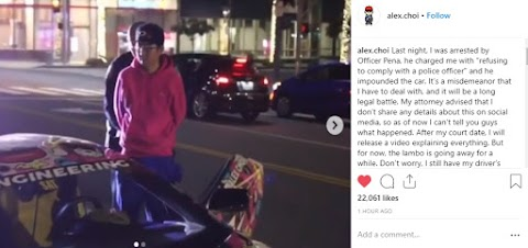 Automotive YouTuber Alex Choi Arrested [UPDATED]