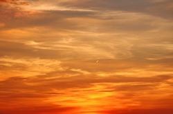 Goldener Abendhimmel...