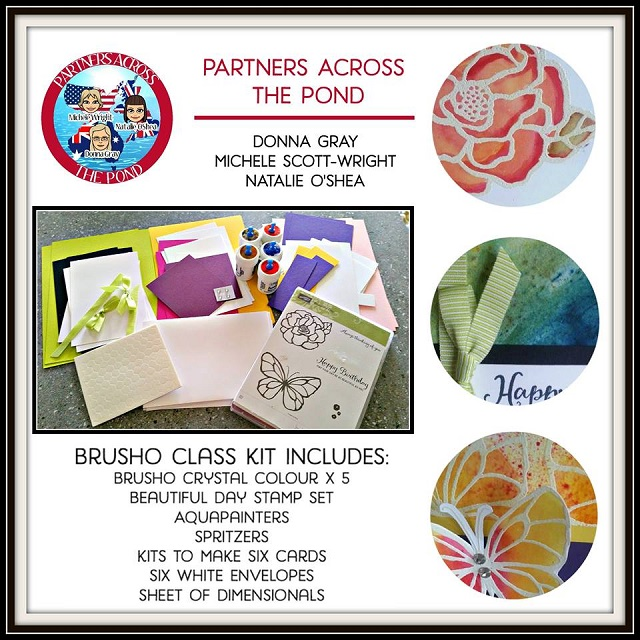 Brusho, Beautiful Day, On-Line Video Class, Stampin UP