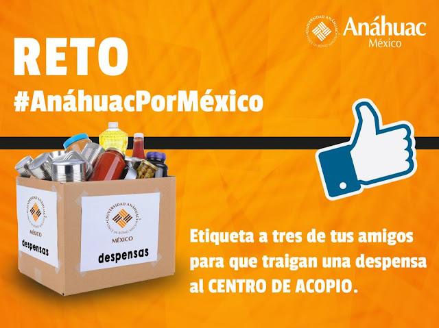 Solidaridad Anáhuac #FuerzaMexico