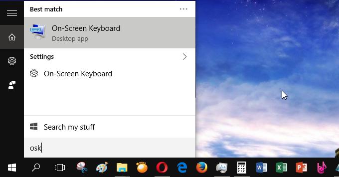 Hướng dẫn mở bàn phím ảo laptop trong Windows