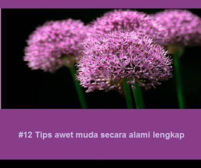 #12 Tips awet muda secara alami lengkap