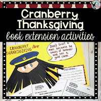 Cranberry Thanksgiving book extension activities available on Teachers Pay Teachers