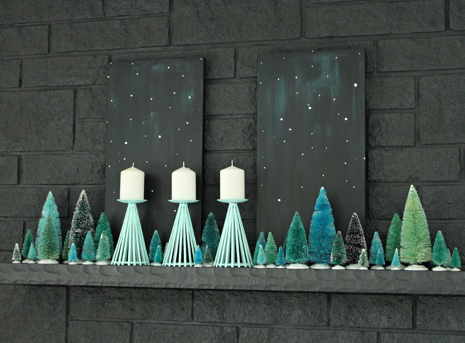 Vintage-inspired holiday mantle decor