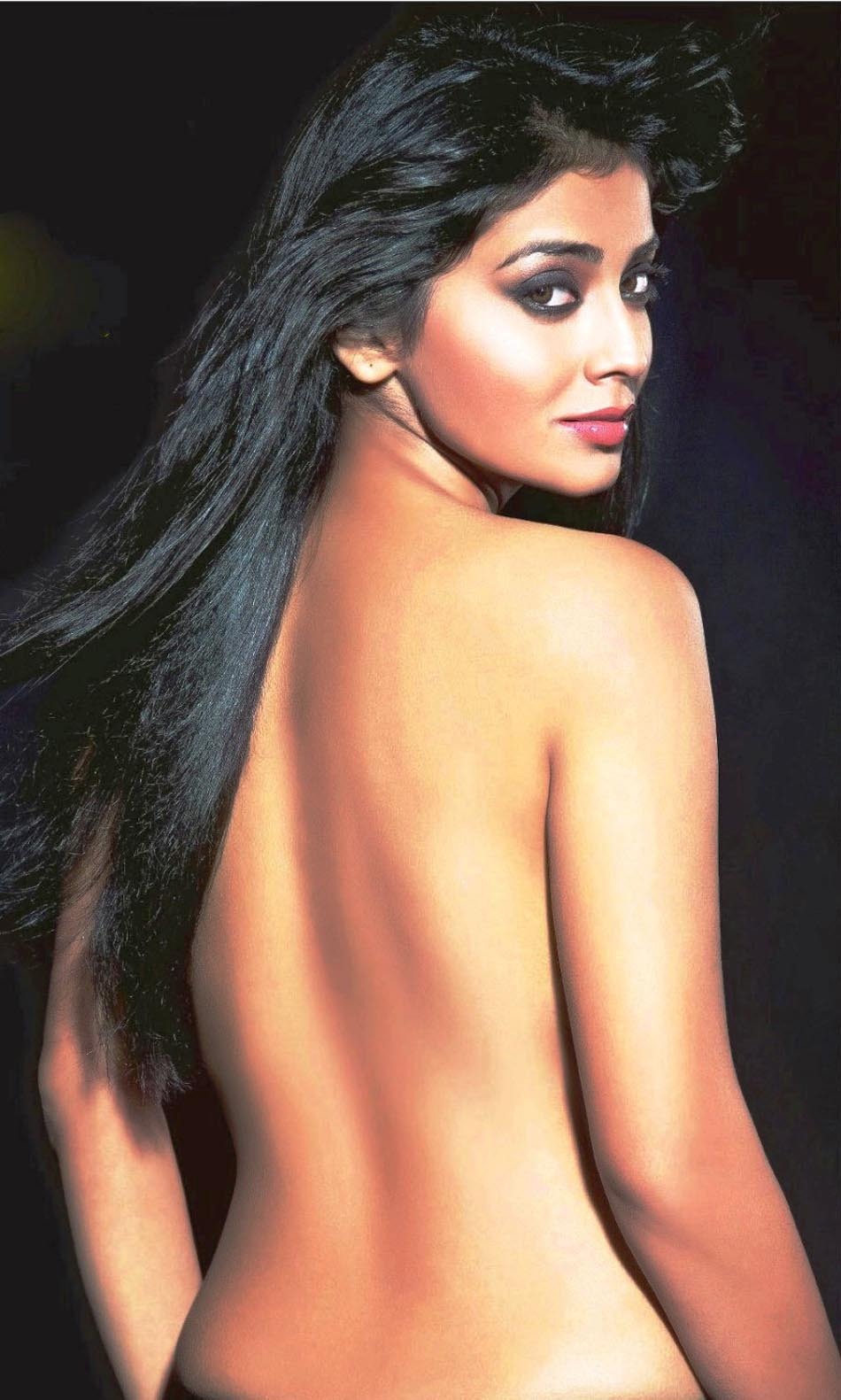 Actress World Shriya-Saran-Hot-Bare-Back-Photos,Shriya -7573