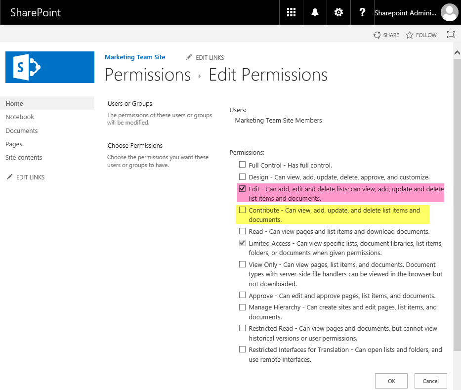 SharePoint Online Change Group Permissions using powershell