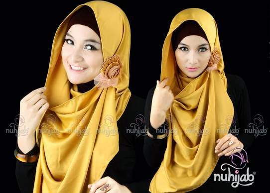 Style hijab pesta simpel untuk remaja