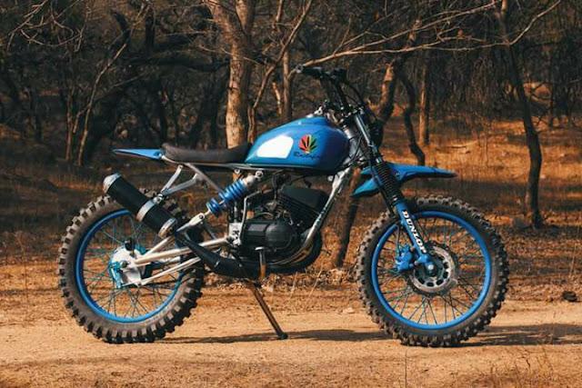 Yamaha RX135 Scrambler - TNT Motorcycles Rastafire