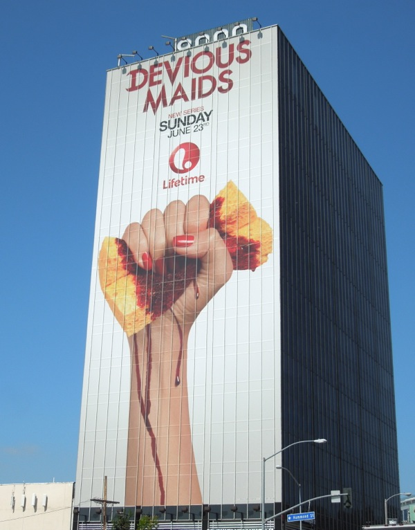 Giant Devious Maids series premiere billboard