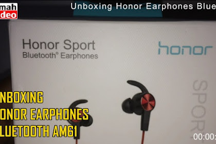 Unboxing Honor Bluetooth Earphones Sport