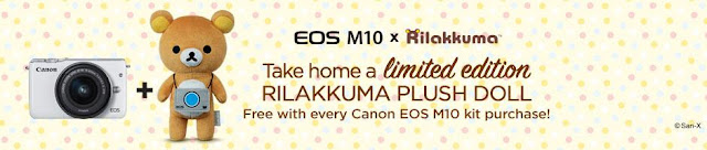 Canon EOS M10 and Rilakkuma,  Canon EOS M10 X Rilakkuma, Canon EOS M10, Rilakkuma, #toytravel , Toy Travel, Toy Travel photo challenge,