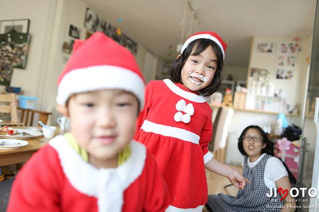 ご自宅へクリスマス出張撮影