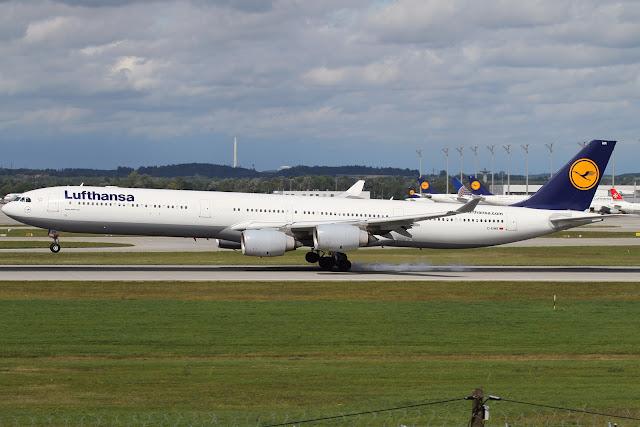 Airbus A340-600 of Lufthansa At Munich Airport