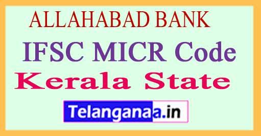 ALLAHABAD BANK IFSC MICR Code Kerala State