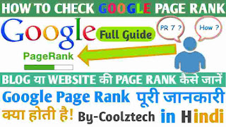 Google Page Rank Checker For Blog And Website Instantly By_Coolztech