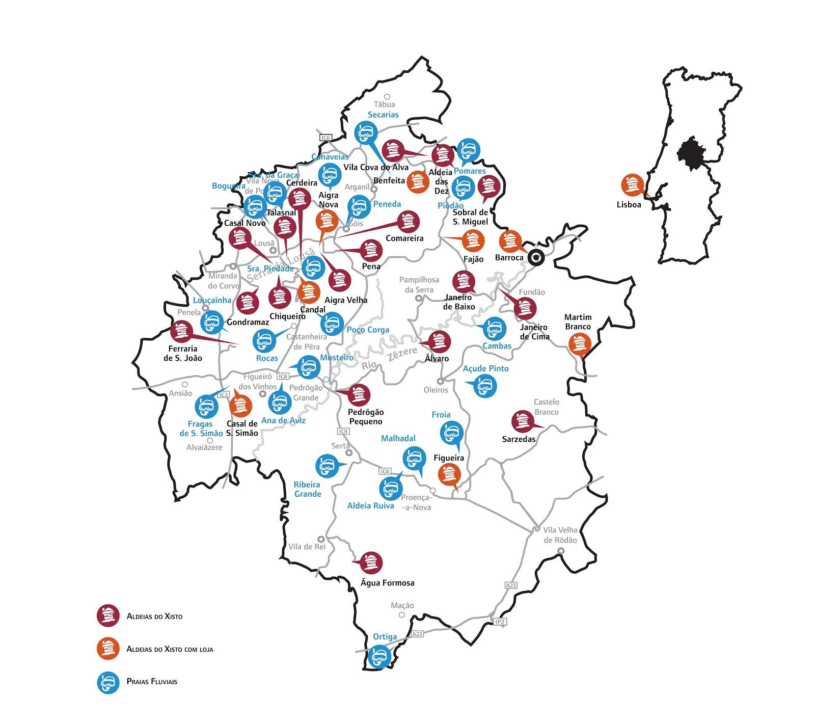 aldeias de xisto mapa tripadvice: Rectificação mapa Aldeias do Xisto aldeias de xisto mapa