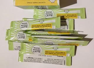 Teapigs Organic Matcha Latte turmeric sachets