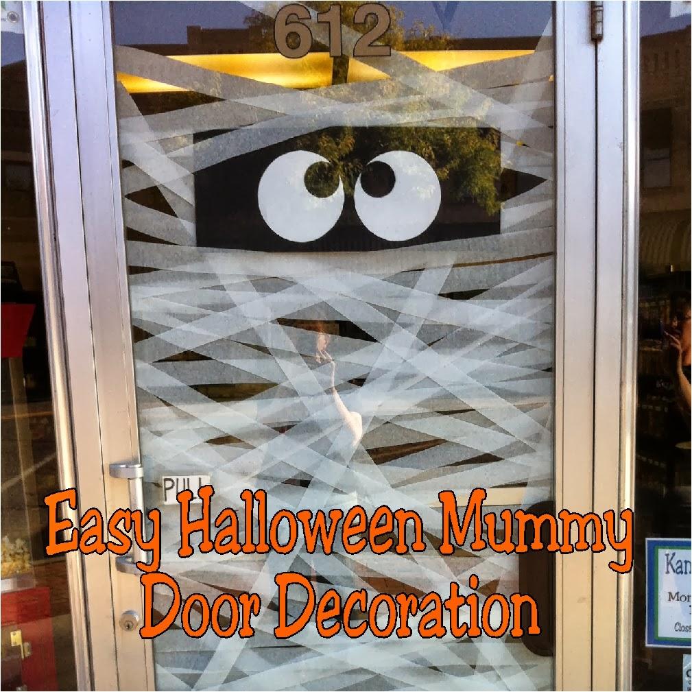 Easy Mummy Halloween Door Decoration | Everyday Parties