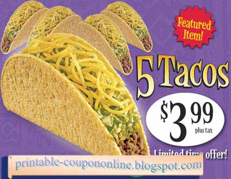 photograph about Taco Bell Coupons Printable identified as Taco bell breakfast discount codes / Sensible couponing 4 u