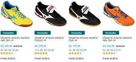 9f9ce7d023 Melhor Site Para Comprar Chuteira Para Futsal da Marca Muzuno