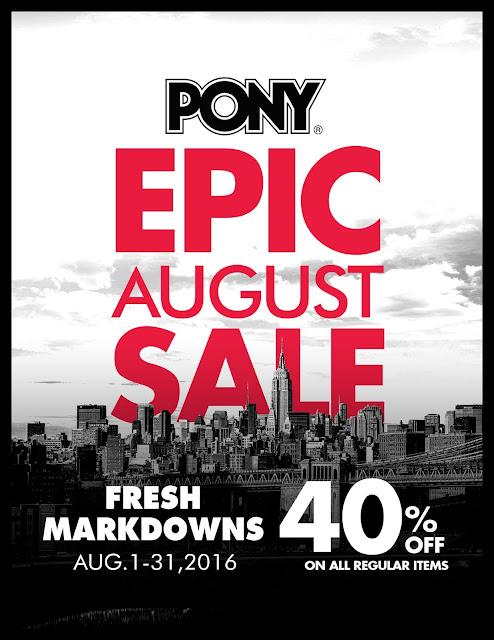 Pony Philippines August 2016 Sale