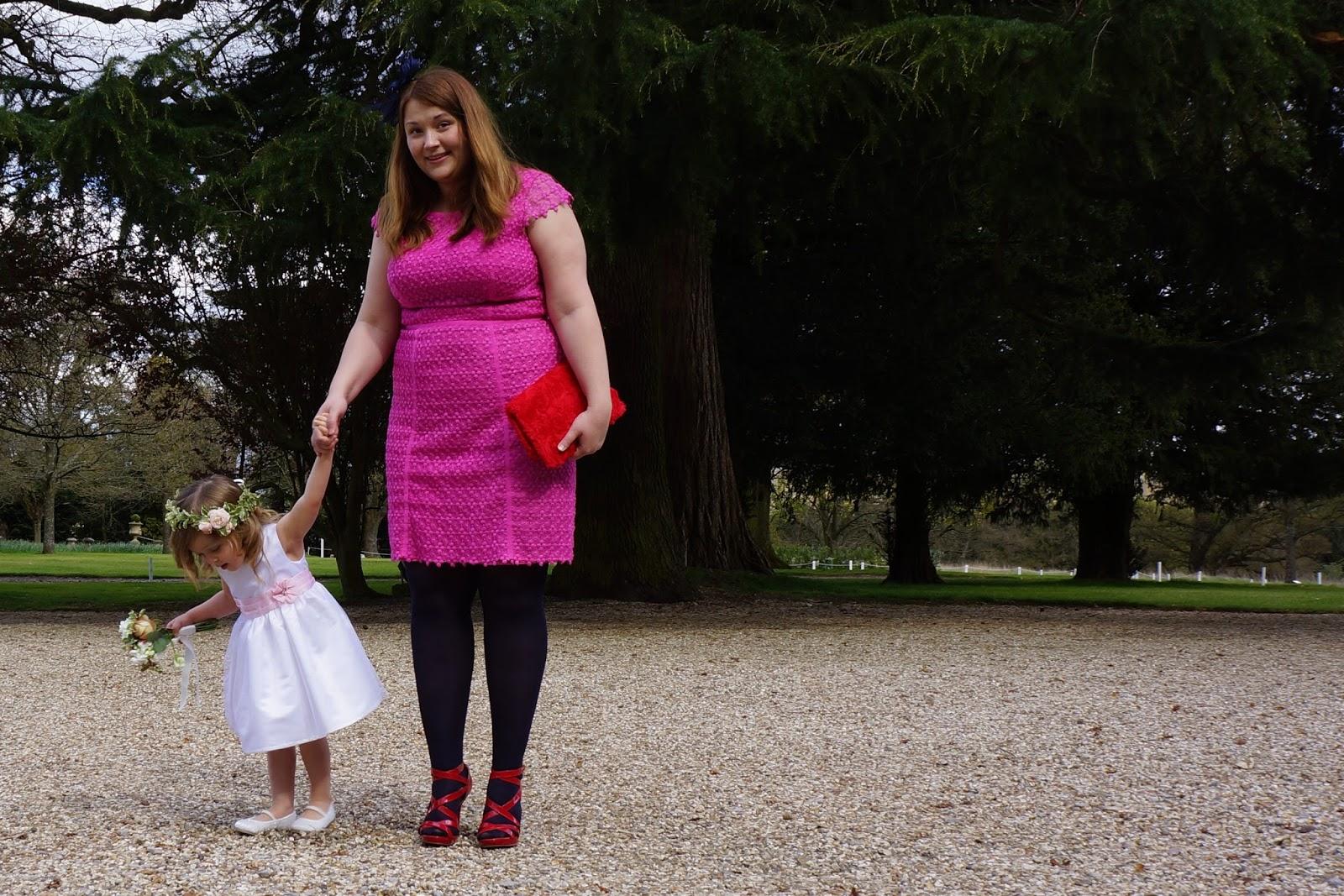 pink lace dress by fenn wright manson