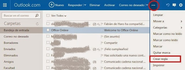 Outlook elimina los Spam automáticamente