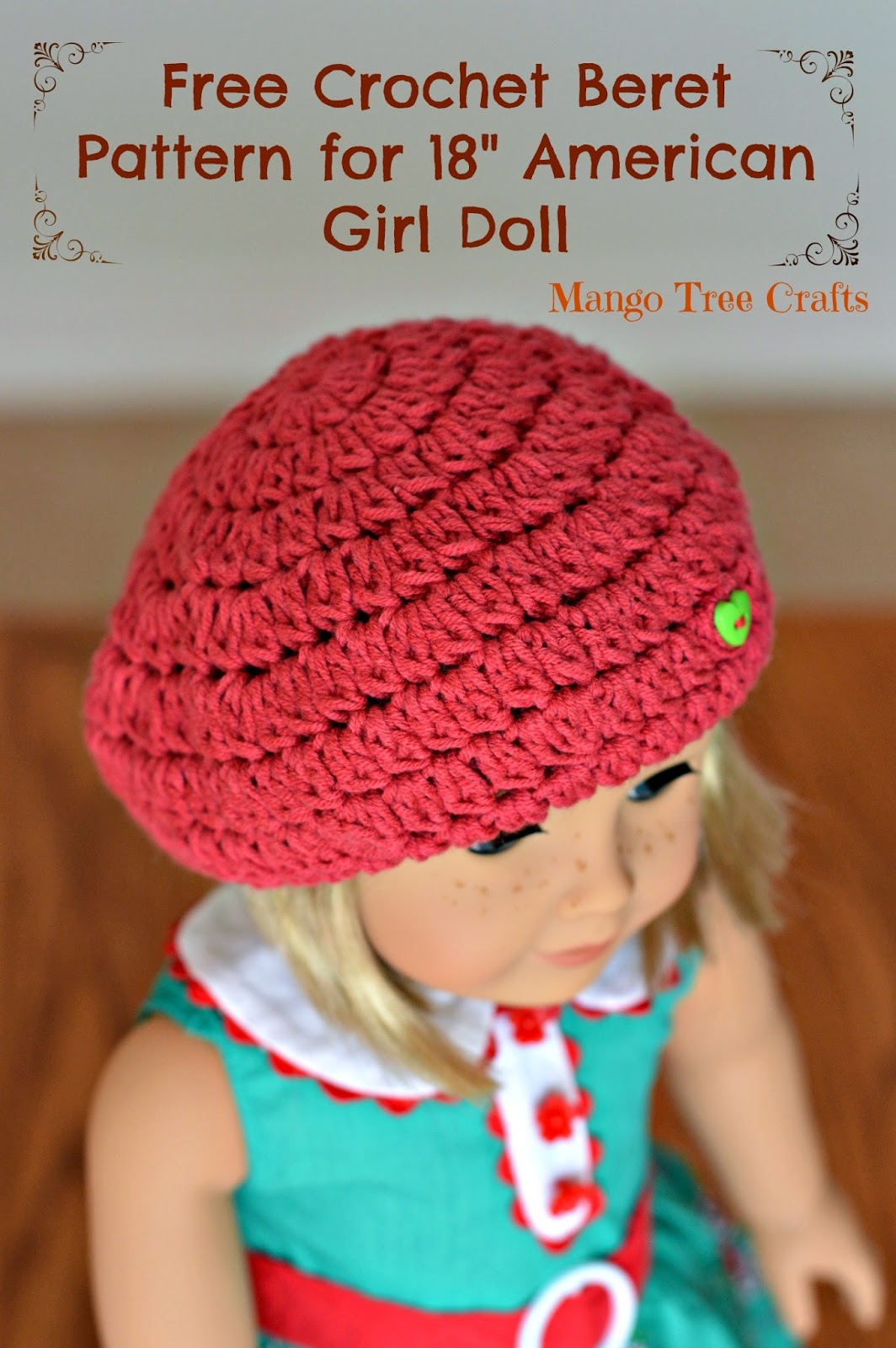 Crochet Beret for doll