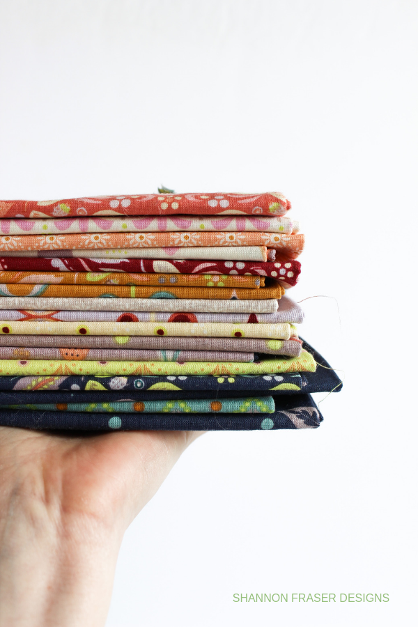 Forest Fables fat quarter bundle | Fall Irish Vortex Quilt | Shannon Fraser Designs