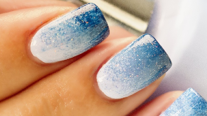 Nail Art For Sparkle Finger Water Marbling Sponging And Free Hand