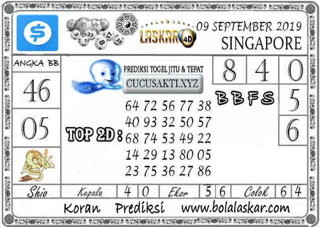Prediksi Togel SINGAPORE LASKAR4D 09 SEPTEMBER 2019