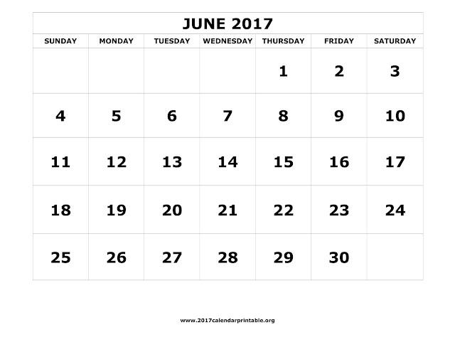June 2017 Printable Calendar, June 2017 Blank Calendar, June 2017 Calendar Printable, Printable Calendar for June 2017, June Calendar Printable 2017, June 2017 Calendar with Holidays