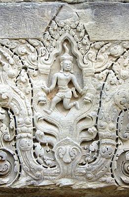Krishna Subduing Kaliya, Ban Phluang, Thailand, 1050-1066 AD.