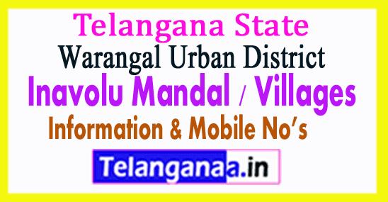 Inavolu Mandal Villages in Warangal Urban District Telangana