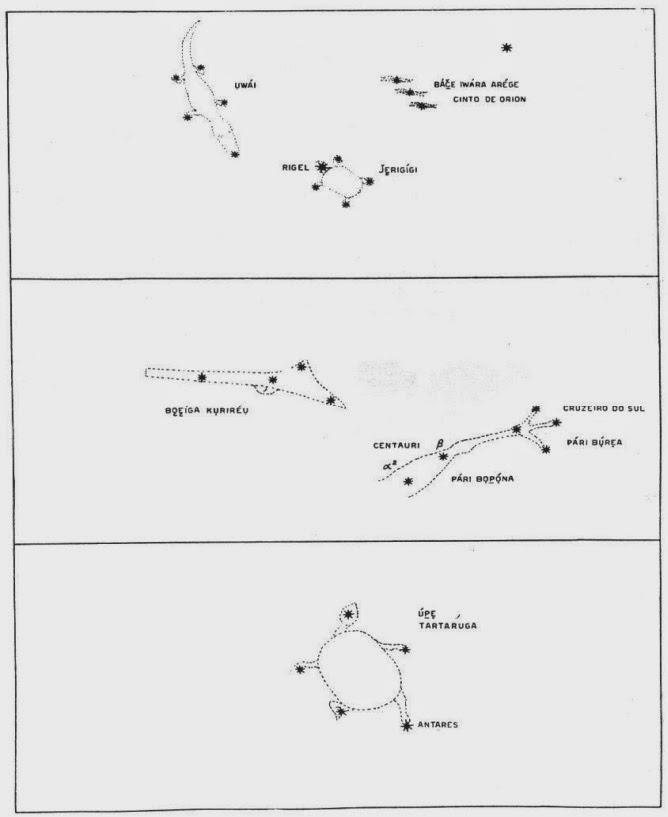 imagens de constelações índios bororo