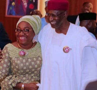 Reuben Abati captions photo of Head of Service, Winifred Oyo-Ita and COS to the President, Abba Kyari