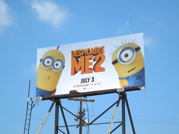 Despicable Me 2 billboard ad