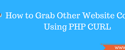 How to Grab Other Website Content Using PHP Curl