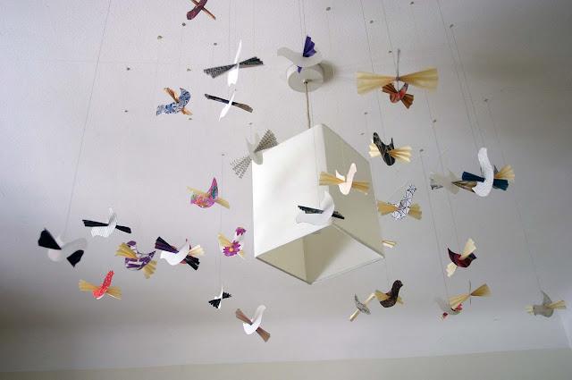 Hanging Origami Crane Decorations