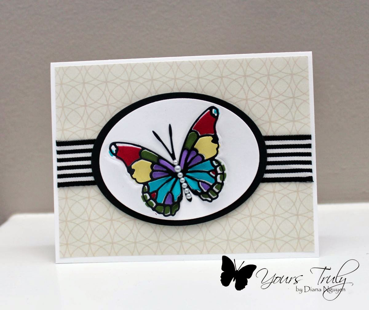Diana Nguyen, butterfly card, Memory Box