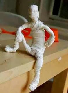 Membuat Kreasi Kerajinan Tangan Dari Barang Bekas, Mini Mumi