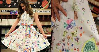 Μαθητές δημοτικού ζωγράφισαν το φόρεμα της δασκάλας τους και είναι υπέροχο